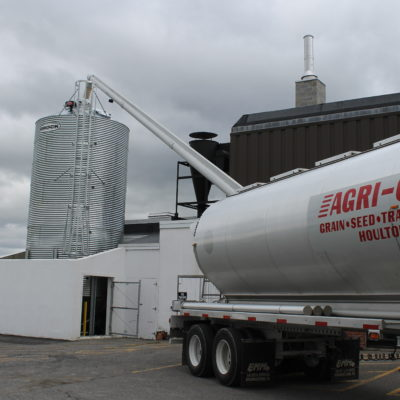 photo of tanker truck agri-cal inc grain seed transportation houlton maine